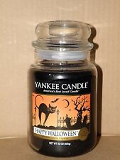 YANKEE CANDLE HAPPY HALLOWEEN COLLECTOR'S EDITION BLACK LICORICE JAR CANDLE NWT