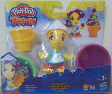 Play-Doh Town ~ Ice Cream Girl ~ Includes 2 Play-Doh Tubs