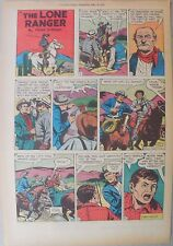 Lone Ranger Sunday Page by Fran Striker and Charles Flanders from 4/16/1955