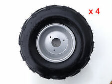 "4x 16X8- 7"" inch 3 Stud Wheel Rim + Tyre 110cc 125cc Quad Dirt Bike ATV Buggy"