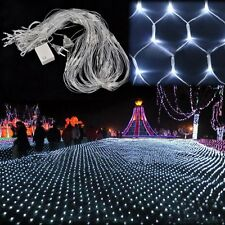 200 LED Christmas White Net Mesh Fairy Lights Twinkle Light Home Wedding Decor