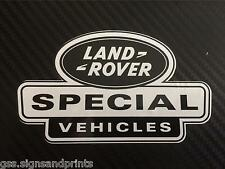 1X 105X60MM LAND ROVER DEFENDER DISCOVERY SPECIAL VEHICLES DECAL STICKER BW