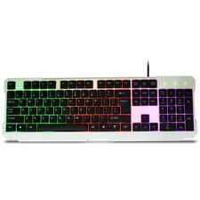 New Rainbow Keyboard With Rainbow Backlight USB Wired Light Game Keyboard JHL