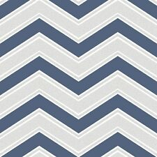 Navy Blue Chevron Wallpaper by Coloroll Modern Zigzag Feature M1149