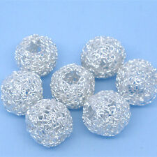 DIY Hollow Filigree Twist Charms Wire Metal Spacer Beads Perles Jewelry Making