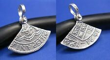 Sterling Silver Shipwreck Pendant Replica 1/5 Cut of Spanish 8 Reale Atocha Coin