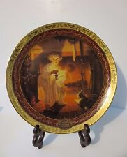 """Fabulous NEW in Box NORMAN ROCKWELL Collectible Christmas Plate """"Is He Coming?"""""""