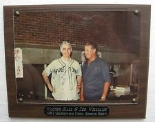 Ted Williams Autographed 1982 Greenwich Ct. Show Photo Plaque To (Walt) Hall