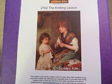 40% Off Golden Kite Counted X-stitch chart - #2702 The Knitting Lesson