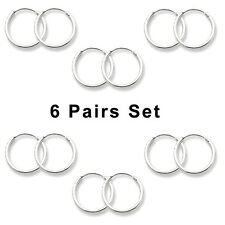 12 pcs Set Super Mini Hoop Earrings Sterling Silver 925 Best Jewelry USA Seller