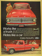 1970 Ford Ranger XLT Pickup red truck photo vintage print Ad