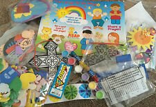 CHILDRENS RELIGIOUS CRAFT BOX (Scratch Art, Foam, Stickers, Beads etc)