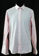 "Harvie & Hudson Jermyn Street London Tailored French Cuff Shirt 16"" 41cm Medium"
