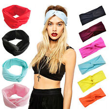 Women's Fabric Turban Twisted Knotted Headband Head Wrap Hair Band Accessories