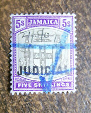 Jamaica 1905 5 Shillings Judicial Stamp #45 Overprint FREE SHIPPING