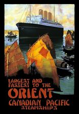 Travel Art Poster Canadian Pacific Orient Railway