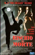 Rischio di morte (1992) VHS Number One Video 1a Ed. - Don Wilson the Dragon