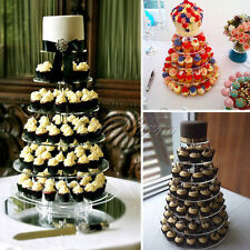 US 7 Tier Clear Acrylic Round Cupcake Stand Wedding Birthday Cake Party Display