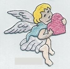 Cupid Angel Holding Heart Embroidery Patch