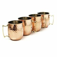 SET OF 4 HAMMERED 20 OUNCE MOSCOW MULE MUGS COPPER NEW FAST SHIPPING