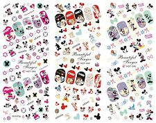 3IN1 Cute Carton Nail Art Sticker Water Transfer Decoration Tips Mickey Mouse
