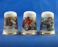 Birchcroft Thimbles -- Set of Three -- Wind in the Willows