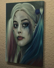 "Boîte toile wall art photo poster imprimé margot robbie harley quinn 18""x24 AK254"