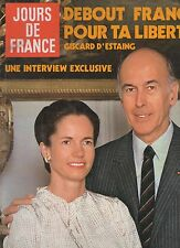 jours de france n°1375 giscard d'estaing johnny hallyday ringo serge reggiani