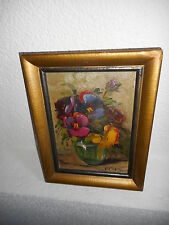 Antique oil painting,{ Beautiful flowers, is signed, great colors! }.