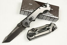 SOG Folding Pocket Knife Half Serrated Saber Camping Fishing Hiking Rescue Gift