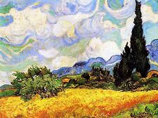 VINCENT VAN GOGH WHEAT FIELD WITH CYPRESSES 1889 ART PAINTING PRINT 3023OMLV