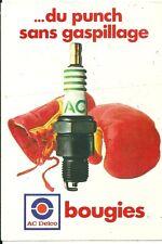 Autocollant sticker AC Delco bougie gants de boxe