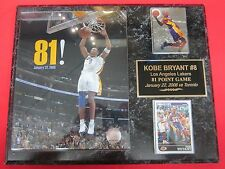 Kobe Bryant 81 Point Game 2 Card Collector Plaque w/8x10 Photo!