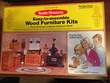 1/12 SCALE WOOD COUNTRY KITCHEN KIT #194 REALIFE MINIATURES HERITAGE SERIES NOS