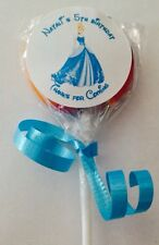 Princess Cinderella Swirl/Twirl Lollipop Candy/Party Favor Personalized 12 Count