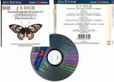 """BACH """"Brandenburgische Konzerte 1-3 Fluta N°.1"""" (CD)"""