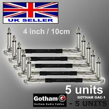 5 Units - 4 inch /10cm Gotham GAC-1 Guitar Pedal Effects Instrument Patch Cable
