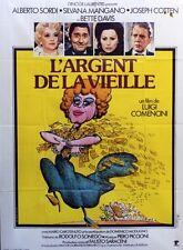 """""""L'ARGENT DE LA VIEILLE"""" Affiche originale (Luigi COMENCINI / Bette DAVIS)"""