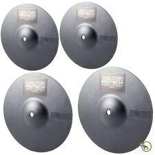 Pintech XT4P Practice Silent Low Noise Crash Hi-Hat Cymbal Drum Pads 4-Pack