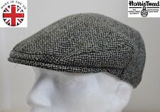 Genuine Harris Tweed Flat Cap Grey 61CM XXL NEW