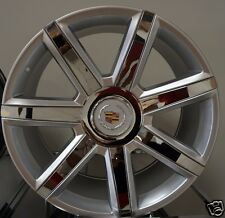 "22"" 2016 Cadillac Escalade Rims Silver/ Chrome Inserts Platinum ESV EXT Wheels"