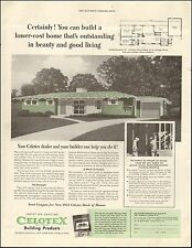 1954 vintage AD CELOTEX Building Products waterproof Sheathing Insulation 071316