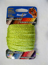 NEEDLOFT CRAFT YARN BRIGHT GREEN #61 for PLASTIC CANVAS by COTTAGE MILLS