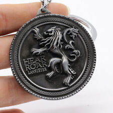 Game of Thrones Lannister of Casterly Rock Metal Keyring Keychain Silver Color