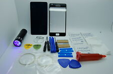 Samsung Galaxy  S2 II GT-I910 Front Glass Repair Kit Black, Loca Glue, Uv Torch