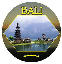 TEMPLE IN BALI  - ROUND SOUVENIR FRIDGE MAGNET - BRAND NEW / GIFT