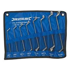 Silverline 8 piece Deep Offset Ring Spanner Set Metric 6 to 22 mm Double Ended