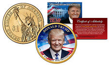 DONALD TRUMP 45th President USA Colorized 2016 Presidential Dollar $1 U.S. Coin