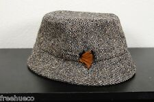 HANNA HATS Donegal Tweed Flecked Gray Walking Hat -Men's XL