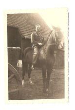 Altes Foto Bild Deutsches Reich 2. Weltkrieg Soldat auf Pferd [262]